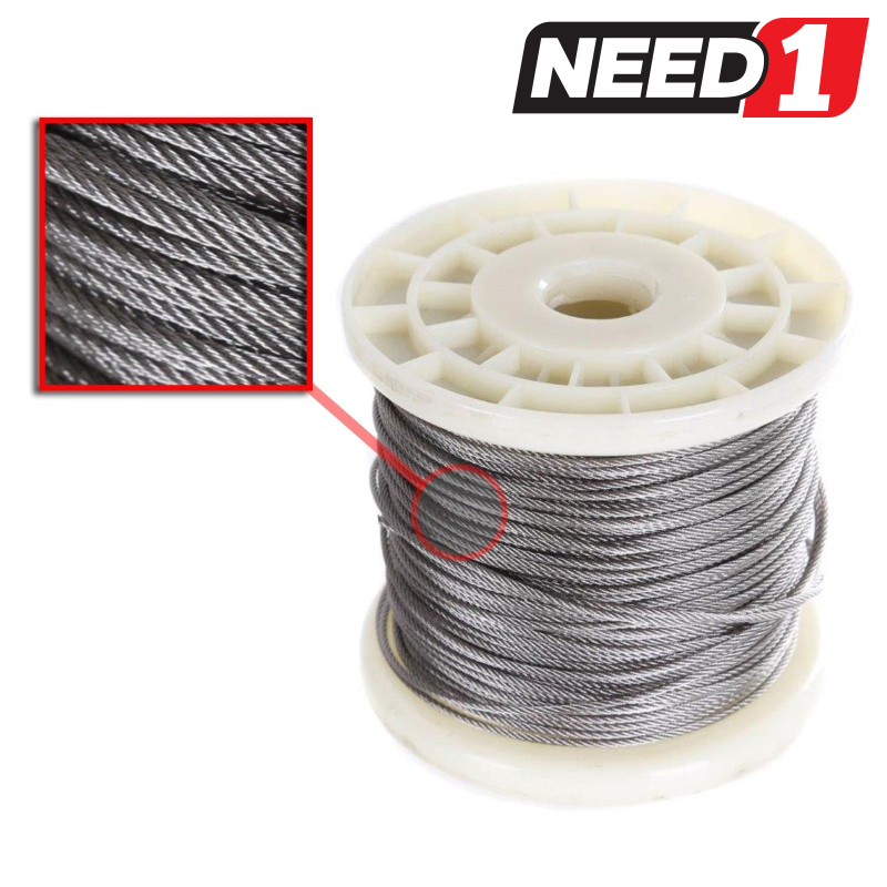 JMV Wire Rope Cable - 7x19 - need1.com.au