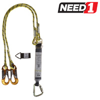 MSA Shock Absorbing Twin Rope Lanyard 1.5M