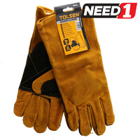 Leather Welders Gloves, Size XL