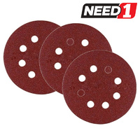 "20 Packs of 5 Abrasive Disc with Holes & ""Hook & Loop Backing"". P30 - P150 Grit"
