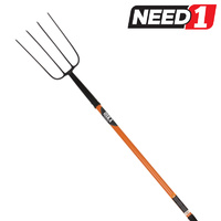 New OSKA 4 Tine Pitch Fork Steel with Long Fiberglass Handle