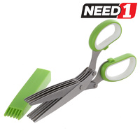 Stainless Steel 5 Blade Herb Scissors