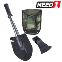Outdoor shovel/Axe Combo c/w Canvass Pouch & Belt Loop
