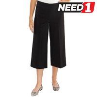 Women's Comfort Stretch Culottes, Charcoal