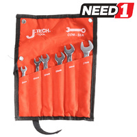 6pc Metric Combination Wrench Set - Sizes: 8mm - 17mm with Tool Pouch