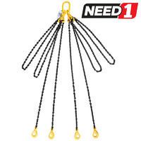 4 Leg Lifting Chain Sling with Clevis Self Locking Hook and Shorteners