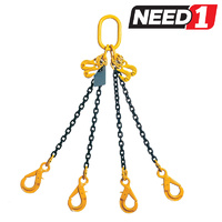 LIFT SAFE 2 Leg Lifting Chain Sling with Clevis Self Locking Hook