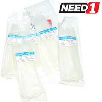 500pcs Total BULK - White - Various Sizes - Cable Ties