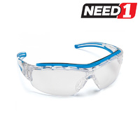 6 X Force360 Shield Clear lens Safety Spectacle Glasses