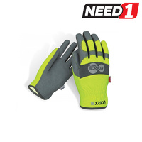 Worx 5 Original Fast Fit Hi-Vis Mechanic's Safety Gloves