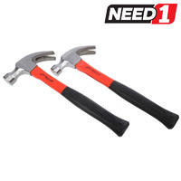 Claw Hammers with Rubber Grip Fibreglass Handles