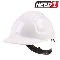 Vented Hard Hat with 6 Point Pinlock Harness