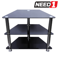 Metro 800 Glass/Metal TV Entertainment Stand