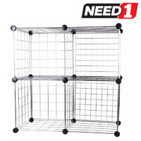 Chrome Wire Cube Storage Unit 36.8 (D) x 73.7(W) x 73.7cm (H)