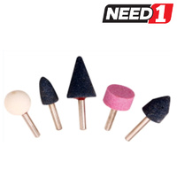 5pc Mounted Grinding Stone Set, 6x27mm