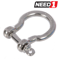 10 x Stainless Steel Standard Bow Shackles, Grade 316