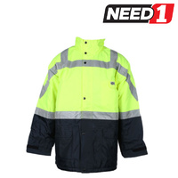 OUTDOOR WORLD Hi-Vis All Weather Jacket, Size: 5XL
