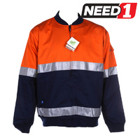 Hi-Vis Cotton Drill Jacket
