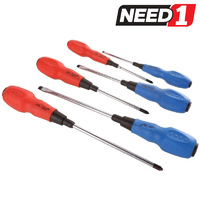 6pc Screwdriver Set With Soft Grip Handles