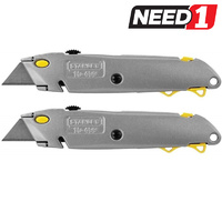Twin Pack Quick Change Retractable Knife