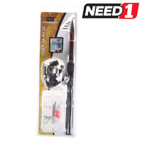 Telescopic Fishing Rod - 2M - Includes Reel & Accessories
