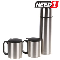 Stainless Steel 3pc Thermos Set in Nylon Zip Case.