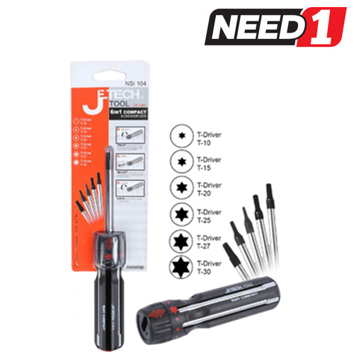 6-in-1 Compact Screwdriver - T-Driver
