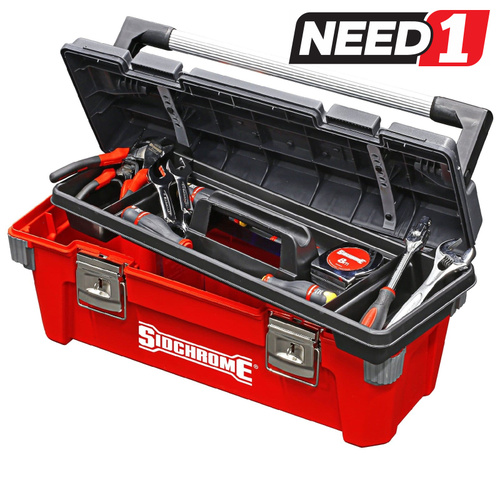 Pro Tool Box 500mm with Removable tray and Aluminium Handle
