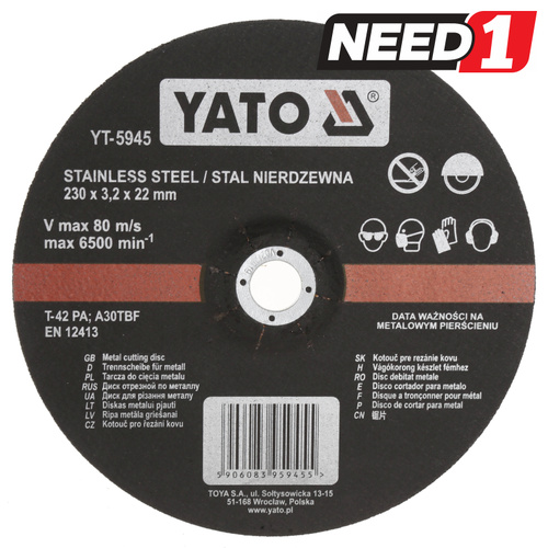 10 x Stainless Steel Metal Cutting Discs